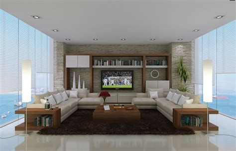 rustic style of decorative wall in modern home living room