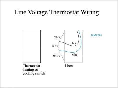 wiring diagram for line voltage thermostat image