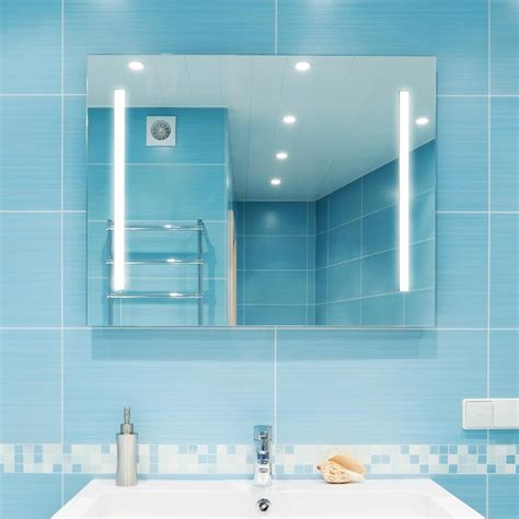 36 X 48 Bathroom Mirror Dyconn Catella 48 In X 36 In Led Wall Mounted Backlit Vanity Bathroom Led Mirror With Touch On