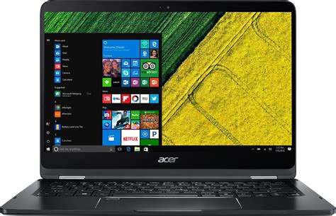 Acer Aspire Spin 7 Sp714 51 Black acer spin 7 i7 7th 8 gb 256 gb ssd windows 10