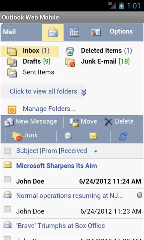 owa mobile outlook web mobile owa email v2 83 requirements 2 2