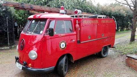 volkswagen fire 1960 s vw screen fire truck red black interior