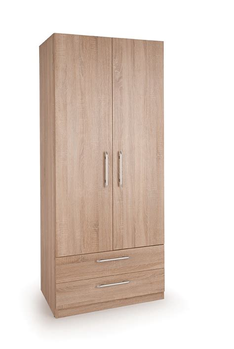 Wardrobes With Drawers by Connect Holborn 2 Door Wardrobe With 2 Drawers Wardrobes