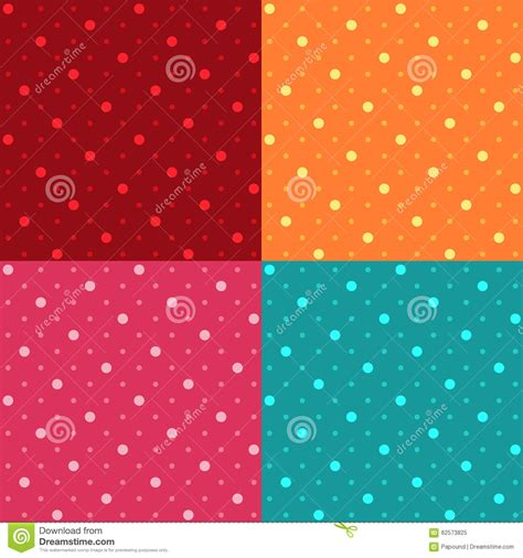 seamless polka dot pattern vector background seamless polka dot pattern background stock vector image