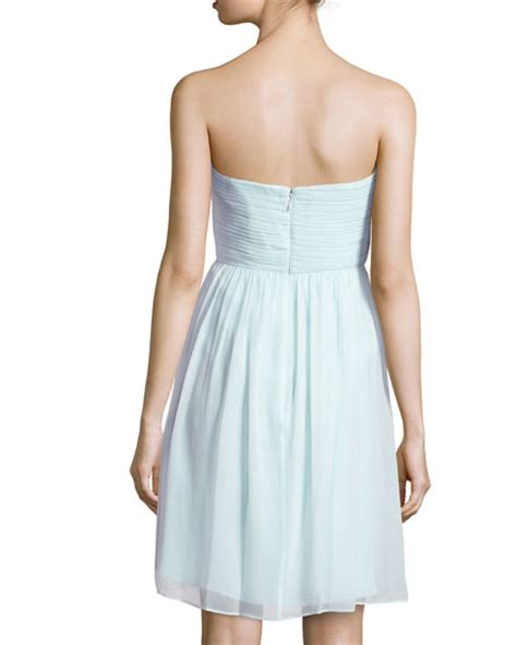 donna glass dress donna strapless ruched bodice cocktail dress