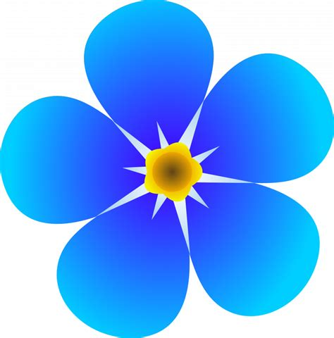 Blue flower clipart colorful flower