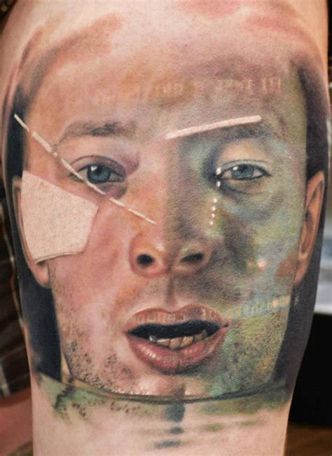 radiohead tattoo radiohead thom yorke by finlayfish on deviantart