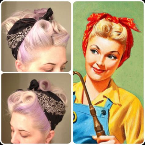 how to do rockabilly hairstyles with bandana 50 s bandana hairstyle for long thin hair tutorial