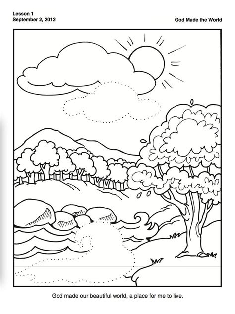 Creation Coloring Pages Preschool | creation coloring page for preschoolers family time w