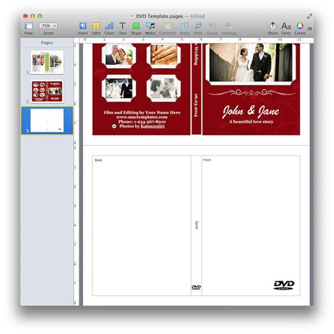 dvd cover template mac dvd cover template for pages mactemplates