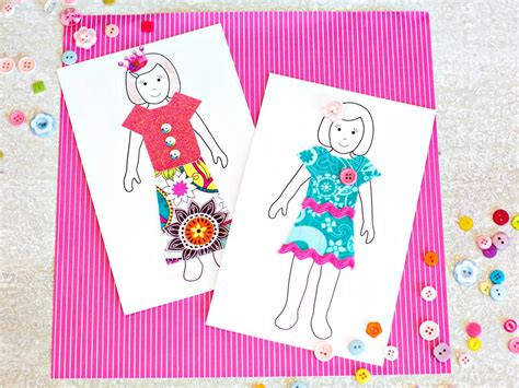 How To Make Dolls With Paper - how to make paper dolls with downloadable patterns how