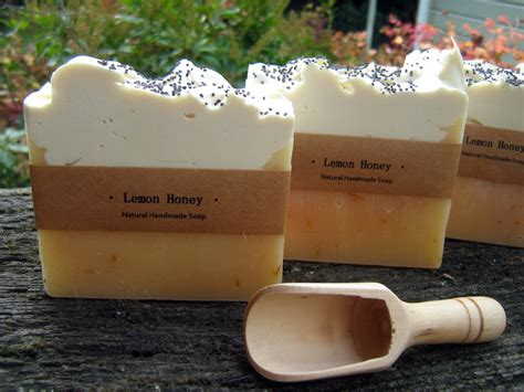 Handcrafted Soaps - lemon honey handmade soap felt