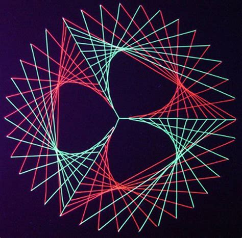 String Circle Pattern - string designs minimath projects