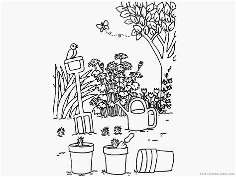 coloring page of garden coloring page garden coloring home