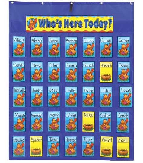Classroom Calendar Feature The Attendance Multiuse Pocket Chart Is Ideal For Keeping
