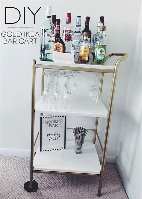ikea hacks bar 14 inspiring diy bar cart designs and makeovers