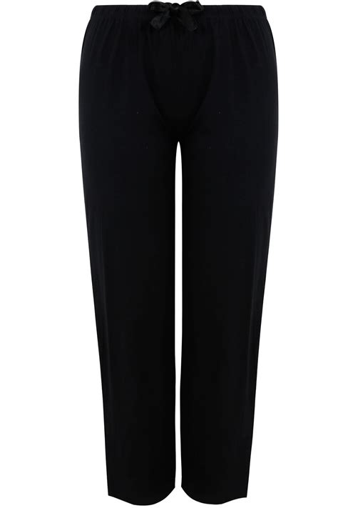 Voucher Family System 3 Way 48 7 Jt black basic cotton pyjama bottoms plus size 16 to 32