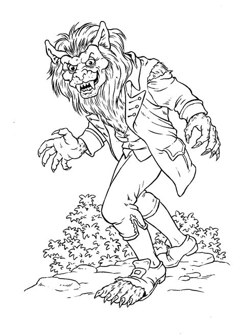 Coloring page - Werewolf