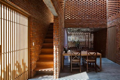 Brick Facade Interior by Passively Cooled Termitary House In Is Wrapped In
