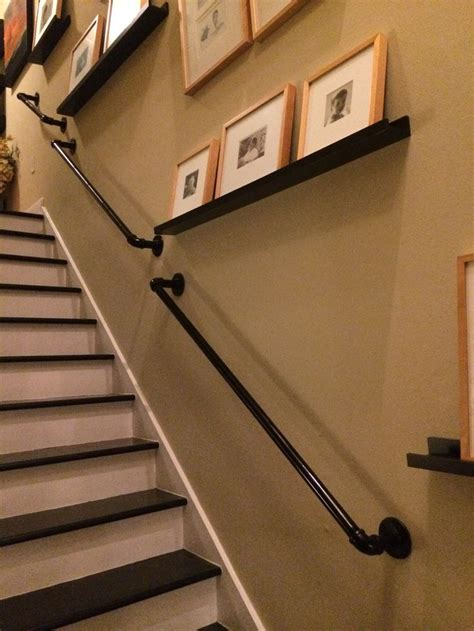 black handrails for stairs best 25 industrial handrail ideas on