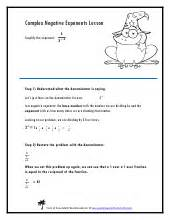 Zero And Negative Exponents Worksheet Pdf by Zero And Negative Exponents Worksheets