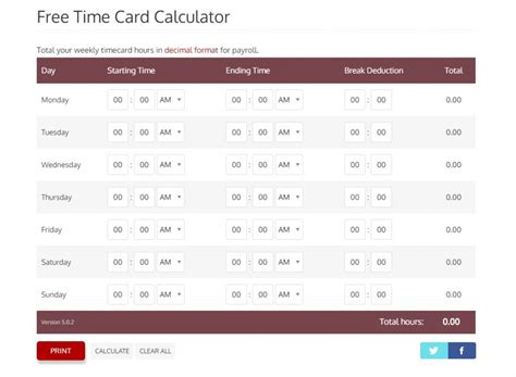 biweekly time card calculator templates franklinfire co