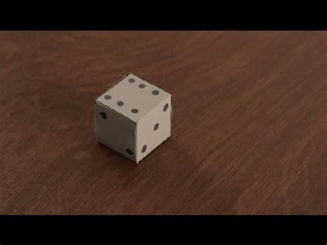 How To Make A Dice Out Of Paper - how to make paper dice paper projects
