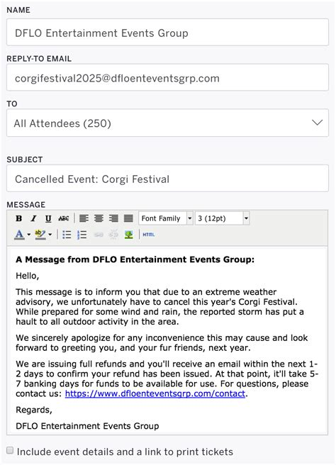 Cancellation Letter Due To Weather How To Cancel An Event Eventbrite Help Centre