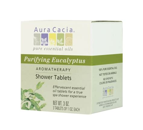 Shower Eucalyptus Tablets by Aura Cacia Aromatherapy Shower Tablets Purifying Eucalyptus