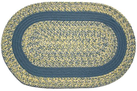 blue and yellow braided rug williamsburg blue yellow williamsburg blue band oval braided rug