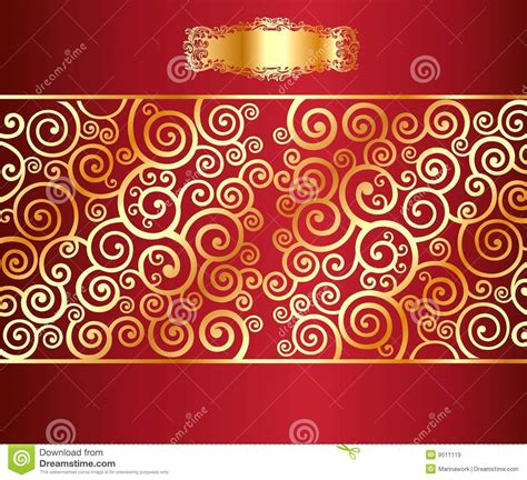 gold red pattern red background with a gold pattern royalty free stock