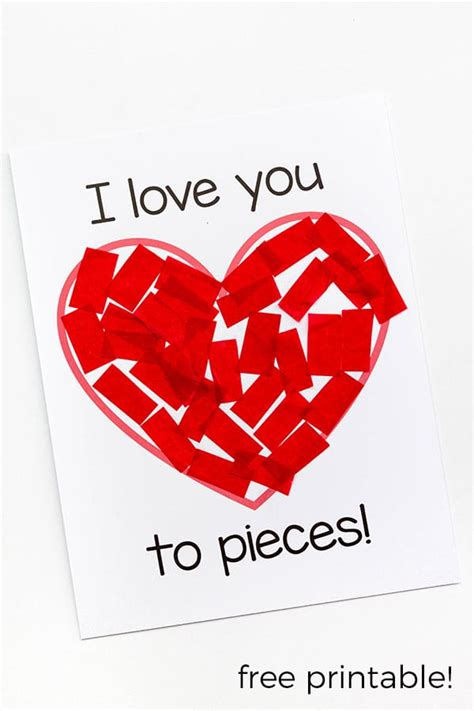 i you i you to pieces s day craft activity
