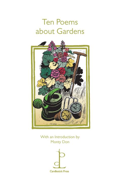 ten poems about gardens candlestick press poetry phlets