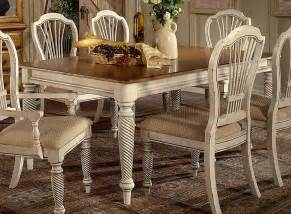 Hd 4508 819 wilshire rectangular dining table antique white 30h x