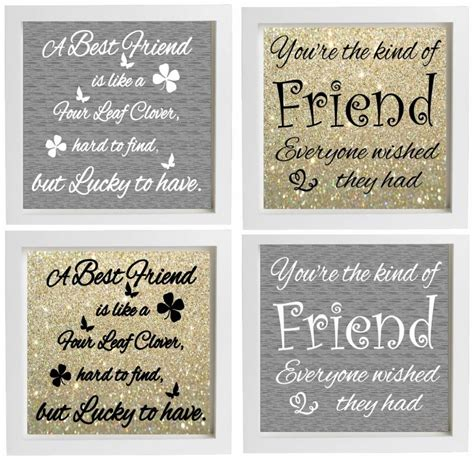 Best Selling Home Decor Furniture vinyl sticker diy box frame fits 20x20cm best friend quote