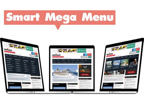 newspaper theme mega menu firstlight a responsive blogspot blogger template your