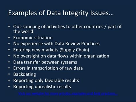 exle of integrity an introduction to data integrity