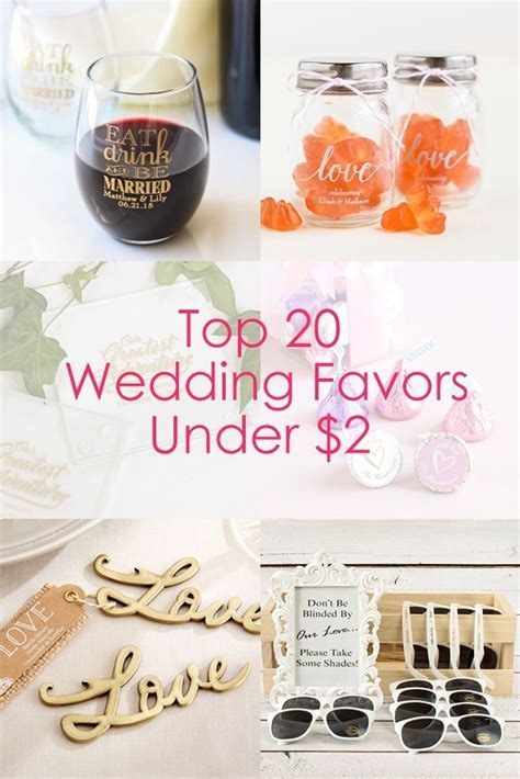 Top 20 Wedding Favors Under $2   Beau coup