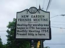 New Garden Friends Meeting by Marker J 75