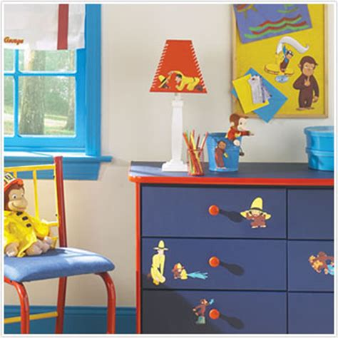 curious george bedroom curious george peel and stick wall stickers
