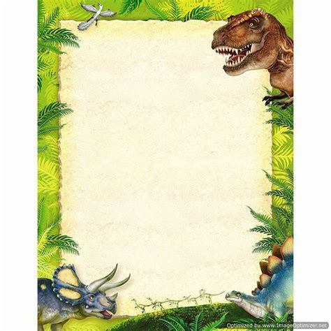 lined paper with dinosaur border discovering dinosaurs terrific paper t 11455