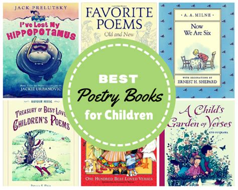 poetry picture books for children best poetry books for children