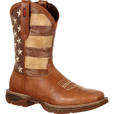 mens rebel flag boots durango mens rebel faded flag western boot brown and faded
