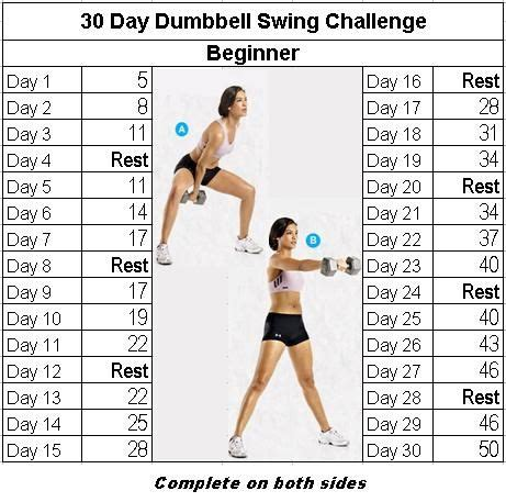 kettlebell swing results fitness challenge 30 day dumbbell swing bodies and