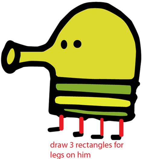 how to draw doodle jump how to draw the doodler from doodle jump with easy