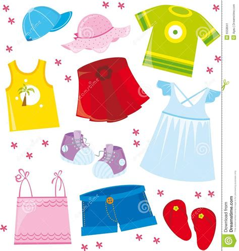 summer clothes summer clothes clipart