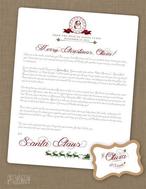 printable personalized letters from santa personalized printable letter from santa claus