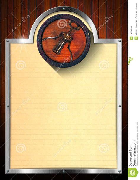 Royal Kitchen Design wine list design stock illustration image of list