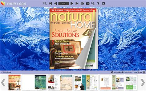 book themes for windows 7 flip books themes about ice full windows 7 screenshot
