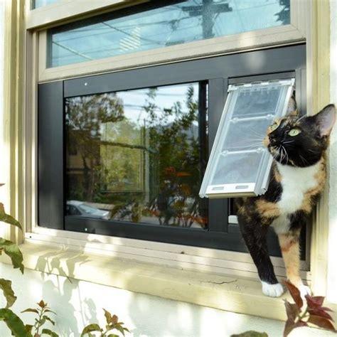 patio pacific endura flap thermo sash  window cat door